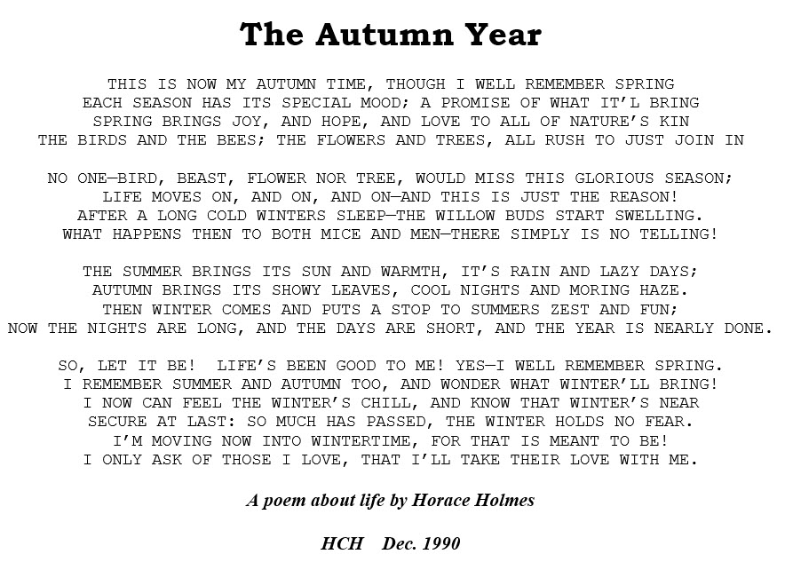 The Autumn Year